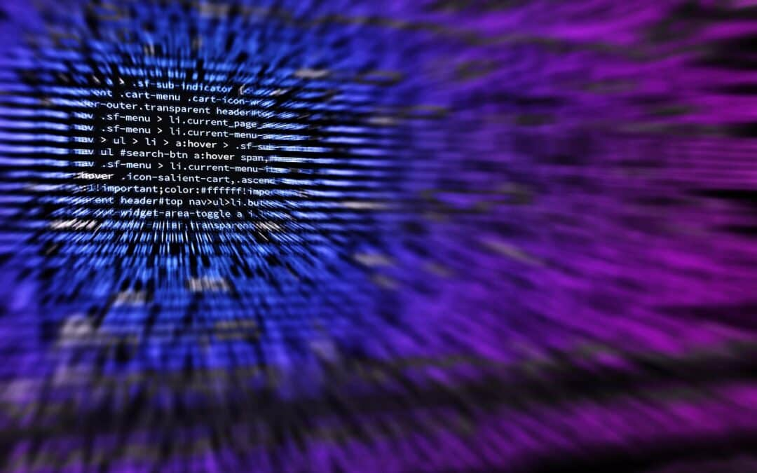blurred computer code